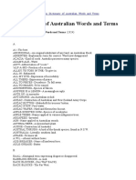 A Dictionary of Australian Words and Terms