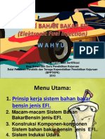 Sistem Bahan Bakar Efi (Elektronic Fuel Injection)