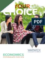 Warwick MSc Postgraduate Prospectus 16697k - Uow Economics Prospectus Pg Digital