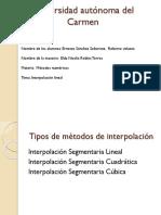 Universidad Autónoma Del Carmen Metodo Lineal