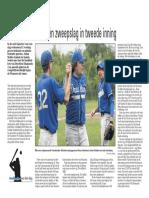 Honkslag en zweepslag in tweede inning, 14 juni 2010