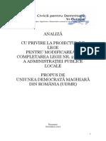 ADEC - Analiză Proiect Modificare Legea Nr 215 2001 a Administratiei Publice Locale
