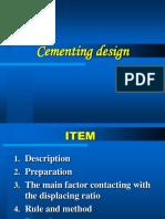 Cementing Design