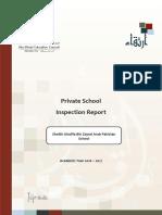 ADEC - Sheikh Khalifa Bin Zayed Arab Pakistan School 2016-2017