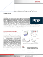 2bind AppNote Comprehensive Biophysical Characterization of Aptamer Interactions