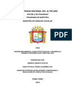 Inversiones mineras, conflictos y desarrollo humano