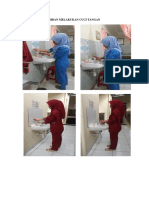 Nakes Melakukan Cuci Tangan Sebelum Melakukan Tindakan Antisepiks