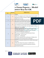 Insurance Exam Papers Model Answer Key for GK