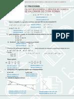 Test Ecuaciones Primer Grado y Fracciones Polinomios Identidades Notables Angulos Sexagesimal Complementarios