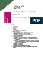 Programación Didáctica Dibujo Artístico. 2º Bachillerato. 2018-2019.