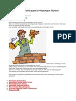 7 Hal Penting Persiapan Membangun Rumah Sendiri