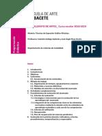 Programación Didáctica Materia Técnicas de Expresión Gráfico-plásticas 2018-2019.