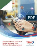 Xamarin Technical Assessment Against Native for Cross Platform Mobile Development