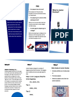 junior hockey brochure