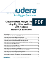 Cloudera Data Analyst Training Exercise Manual
