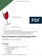 Wine Developer's Guide_Debugging Wine - WineHQ Wiki
