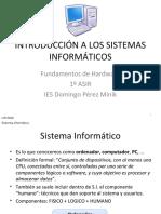Ut1 - Presentacion - Introduccion a Los Sistemas Informaticos