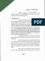 Decreto 443/15 del gobierno de la provincia de Córdoba