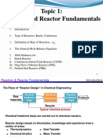 Chapter 1 Reaction and Reactor Fundamentals