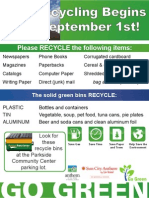 Recycling Program Flier