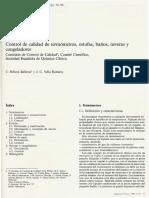 CONTROL DE CALIDAD TERMOMETROS