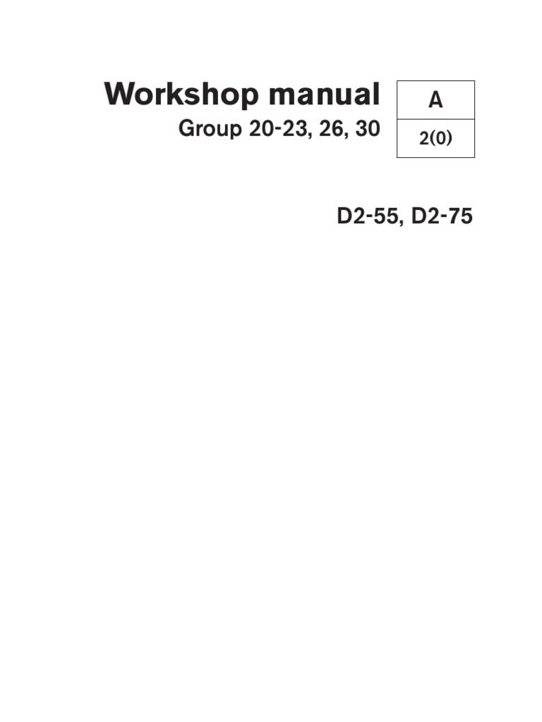7742969w d2 55 d2 75 workshop manual cylinder engine fuel rh scribd com