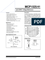 MCP1525-41 2.5V and 4.096V Voltage References.pdf