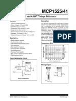 MCP1525-41 2.5V and 4.096V Voltage References.pdf