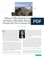 Balanced Residential Communities Including Affordable Housing in Smart Growth and New Urbanist Development