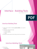 Interface – Building Tools