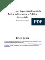 Linee Guida Per La Preparazione e Presentazione Della