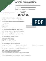 Evaluacion Diagnostica Quinto de Primaria