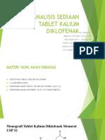 Analisis Sediaan Tablet Kalium Diklofenak