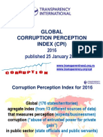 Global Corruption Perception Index (Cpi) 2016