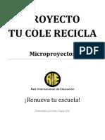 Micro reciclaje colegio taller ciencias 2° medio