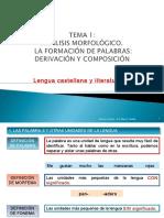 Tema1anlisismorfolgico Composicinyderivacin2012!13!130220161644 Phpapp01