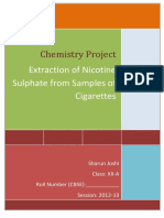 Documents.tips Chemistry Project on Nicotine