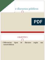 Tipos de Discursos Públicos