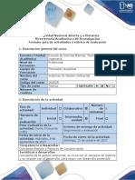 Guía de Actividades y Rúbrica de Evaluación - Actividad 2 - Fase 1 - Foro Colaborativo Unidad 1
