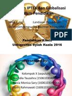 Landasan IPTEK Dan Globalisasi Dalam Pendidikan