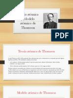 Teorías Atómicas y Modelos Atómicos