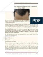 Homoeopathic Remedies for Hair Loss and Baldness