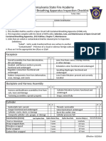 SCBA Inspection Checklist