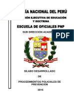 Silabo Desarrollado Procedimientos Policiales de Prevencion 2016