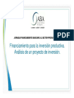 Financiamiento para la inversion productiva. Analisis de un proyecto de inversion.pdf
