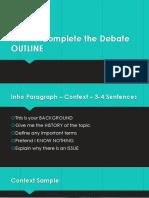 how to do debate outline