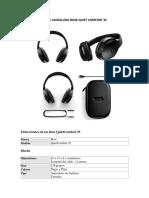Descripcion Audifonos Bose Quietcomfort 35