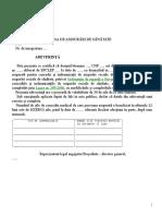 Anexa 19 - Adeverinta Cu Numarul de Zile de Concediu Medical Pentru Salariat Gen