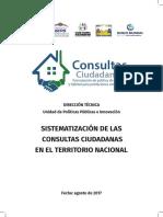 Sistematización de las consultas ciudadanas