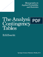 (Monographs on Applied Probability and Statistics) B. S. Everitt (Auth.)-The Analysis of Contingency Tables-Springer US (1977)